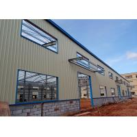 Wholesale Q235 Prefabricated Light Steel Space Frame Structure , Prefab Workshop Buildings from china suppliers