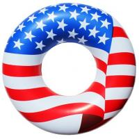 Wholesale American Flag Inflatable Swimming Rings Pvc With EN71 Standard from china suppliers