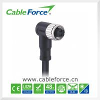 Wholesale IP67 M12 4pin Female D-Coding Circular Cable Connectors With Single Ended Cable from china suppliers