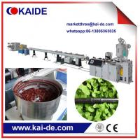 Wholesale HDPE irrigation pipe line manufacturing machine supplier from China Single screw extruder from china suppliers