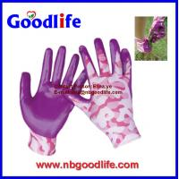 Wholesale CE approved sandy foam nitrile glove nitrile dipped gloves from china suppliers