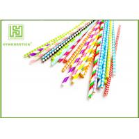 Wholesale Unique Party Decorations Party Paper Straws Biodegradable 50pcs / Bag from china suppliers