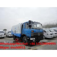 Buy cheap 2018s cheapest price dongfeng RHD 170hp diesel 8-10tons road sweeping vehicle for sale, street sweeper cleaning  truck from wholesalers