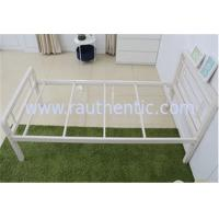 Wholesale Simple designed stable metal frame bed, steel structure with single size from china suppliers
