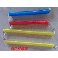 Wholesale Red/blue/yellow popular color 2.5x10mm plastic spring coil tether with eyelet terminates from china suppliers