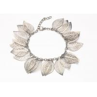 Wholesale Silver Hollow Leaf Costume Jewelry Charm Bracelets With Clasp Extender from china suppliers
