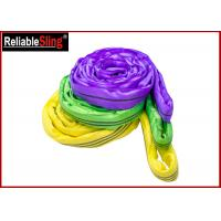 Wholesale EN Standard Color Code Polyester Lifting Slings , Endless Cargo Slings from china suppliers