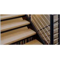 Wholesale natural unfinished white oak solid wood stair tread from china suppliers