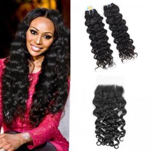 Wholesale Unprocessed Malaysian Human Hair Italian Curly Hair , 8A Grade Malaysian Virgin Hair from china suppliers