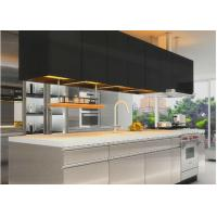 Wholesale Assembled Stainless Steel Kitchen Cabinets , Contemporary Kitchen Cupboards from china suppliers