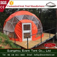 Wholesale Fashion water - proof Red 10m Large dome tent for accommodation / hotel from china suppliers