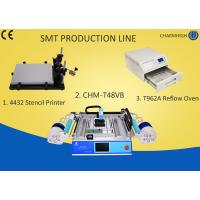 Buy cheap 4432 Stencil Printer + Chmt48vb Table Top Pick And Place + T962A Reflow Oven , small Smt Line from wholesalers