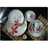 Wholesale Freezing Resistance Ceramic Coupe Dinnerware Sets , 12 Piece Round Coupe Plate Serve For 4 People from china suppliers