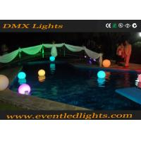 Wholesale Waterproof floating led pool balls with cordless rechargeable Li battery operated , PE material from china suppliers