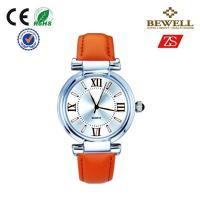 Wholesale Bewell Woman And Man Japan Movt Alloy Watches With Leather Strap from china suppliers