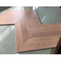 Buy cheap Oak chervon hardwood floors, 45 degree angle, special and popular design from wholesalers