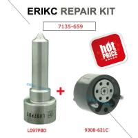 Wholesale ERIKC 7135-659 common rail injector spare parts valve 28440421 28239294 9308-621C and nozzle L097PBD repair kit group from china suppliers