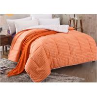 Wholesale Pinted Stripe Microfiber Quilt Comforter Piping Frame Cutting Through from china suppliers