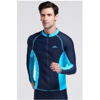 Wholesale Mens Long Sleeve Zip Front Rash Guard from china suppliers