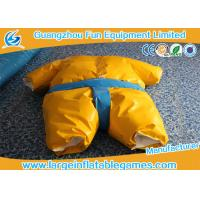 Quality 1.5m / 1.8m 0.4mm PVC Inflatable Sumo Wrestling Suit Yellow foam padded mattress for games for sale