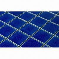 Wholesale Ceramic Mosaic Tiles, Ideal for Swimming Pools, Bathrooms and Kitchens, Measures 48 x 48mm from china suppliers