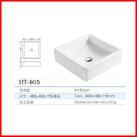 Quality chaozhou ceramic square shape table top wash basin toilet for sale for sale