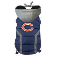 Wholesale Personalized Chicago Bears Dog Puffer Vest Embroidered Logo Pet Pug clothes from china suppliers