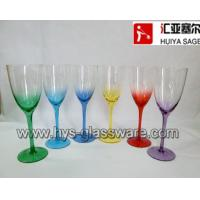 Buy cheap Multicolor sprayed wine glasses, customized color, shape and design,NEW FOR 2014 from wholesalers