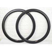 Wholesale 50mm Depth 700C Size Carbon Clincher Rims Ultra Light Torsion Strength >50kg from china suppliers