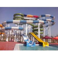 Wholesale Outdoor Commercial Sprial Fiberglass Water Slides Combination , Water Park Attraction from china suppliers