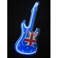 """Wholesale 17"""" 24"""" Neon Guitar Clock Business Neon Signs With UL / CE Certified from china suppliers"""
