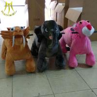 China Hansel hot sale children walking electric plush ride on animal toys for park on sale