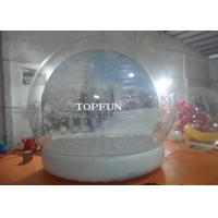 Wholesale Custom Clear PVC Bubble Balloon Inflatable Snow Globe Tent With Airtight Base from china suppliers