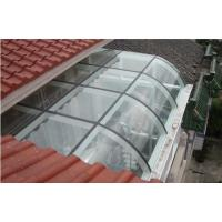 Wholesale 8mm Thick Commercial Curved Tempered Glass Shatterproof For Penthouse , Colour / Clear from china suppliers