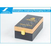 Wholesale Rectangle PU Leather Essential Oil Packaging Boxes With Logo Gold Hot Stamped from china suppliers