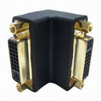 Wholesale Right Angle DVI Adapter, Gold-/Nickel-Plated Connector from china suppliers