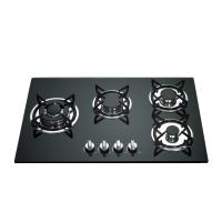 Wholesale Built In Gas Stove 4 Burner Glass Top With Cast Iron Pan Support from china suppliers