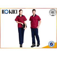 Quality Durable Custom Professional Work Uniforms in red color for engineers for sale