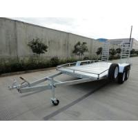 Wholesale Steel Tandem 2000kg 20x6 Vehicle Transport Trailer / Flatbed Car Carrying Trailers from china suppliers