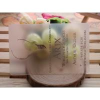 Wholesale UV Printing Plastic Business Cards , Transparent PVC Custom Plastic Cards from china suppliers