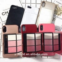 China new release bling mobile phone case Eye Shadow Palette Phone Case makeup case on sale