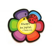Wholesale 3D Flower Rubber Personalized Fridge Magnet with Offset Printing , ROHS from china suppliers