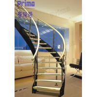 Wholesale custom curved staircase wood / carving wooden stair railing / indoor curved stairs from china suppliers