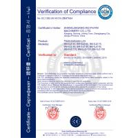 ZHANGJIAGANG MEDPHARM MACHINERY LTD Certifications