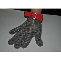 Wholesale Safety Wire Mesh Stainless Steel Gloves For Protection Industry , Five / Three Finger Type from china suppliers
