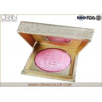 Wholesale Golden Box Matte Powder Blush , Beautiful Pale Pink Blush For Dry Skin from china suppliers