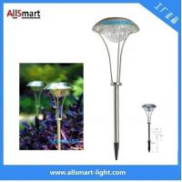 Wholesale Stainless Steel solar powered led lamp Solar Spike light for outdoor garden pathway solar mushroom lawn lights from china suppliers