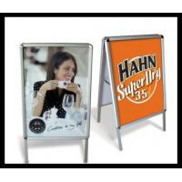 Wholesale Portable a - frame  Metal Display rack / double side poster for advertising from china suppliers