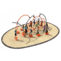 Buy cheap 600*350*250cm Rope Play Structures Outdoor Playground Middle Size For Grass Land from wholesalers
