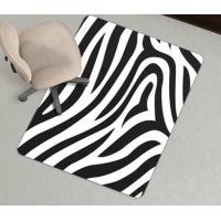 Wholesale Zebra Stripe Washable PVC Chair Mat Carpet Protector , Eco-Friendly from china suppliers